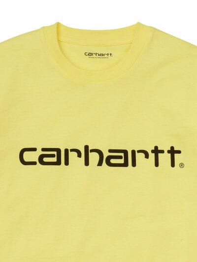 Carhartt-WIP Womens SS Script Tee limoncello DETAIL