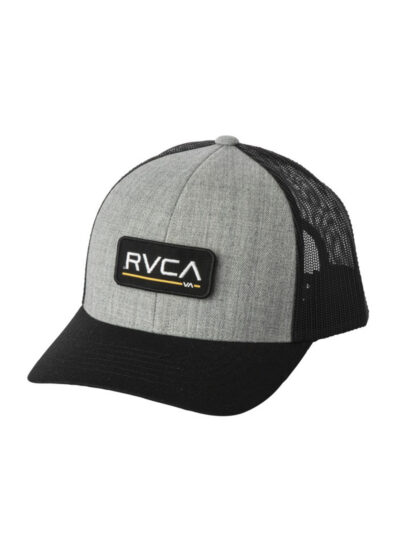 RVCA Ticket Trucker heather grey black 1
