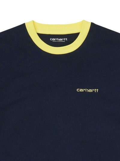Carhartt WIP Womens SS Quad Tee dark navy DETAIL