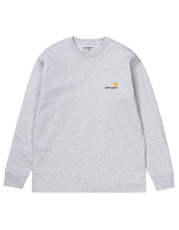 LS american Script Tee ash heather