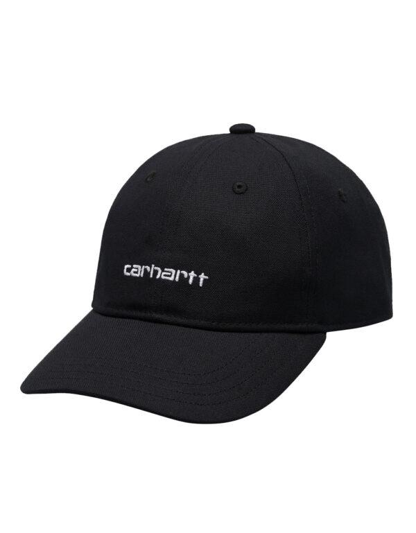 Canvas Script Cap BLACK
