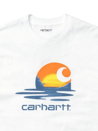 Carhartt WIP SS Lagoon Tee white DETAIL