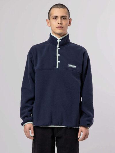 HUF Baxter Polar Fleece navy blazer MODEL 1