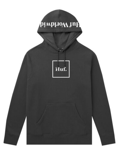 HUF Essentials Box Logo Pullover Hood black 1