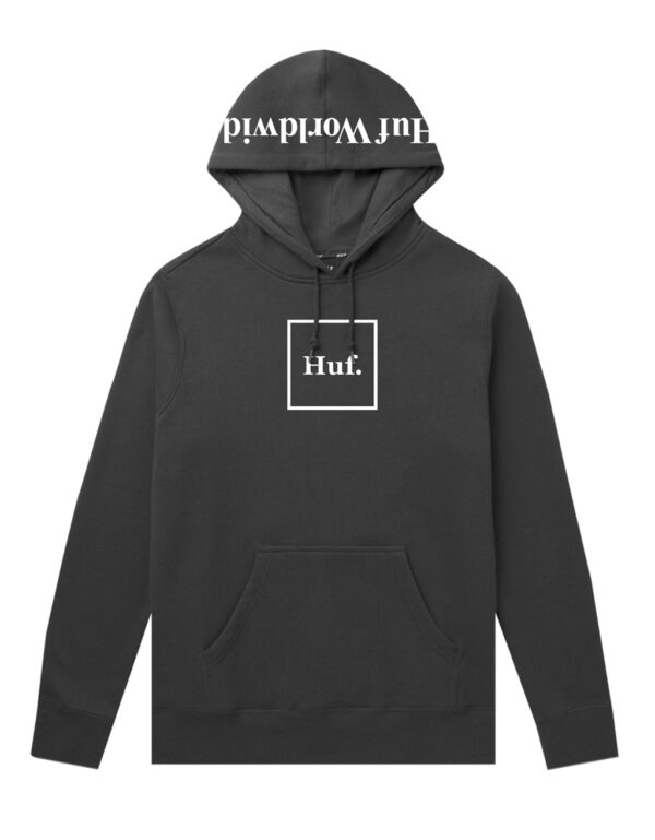 HUF Essentials Box Logo Pullover Hood black 1