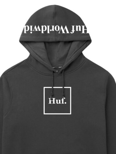 HUF Essentials Box Logo Pullover Hood black 2