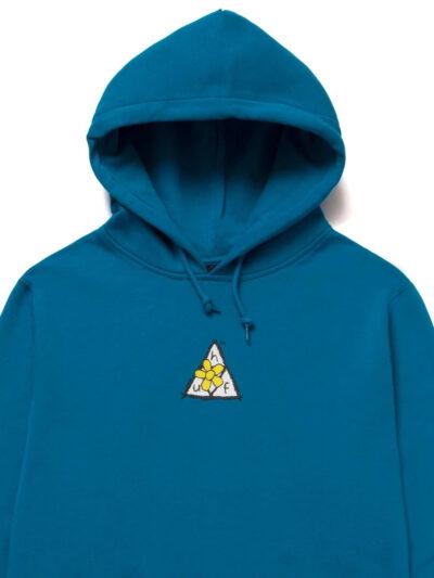 HUF Pushing Daisies TT Pullover hood blue 3