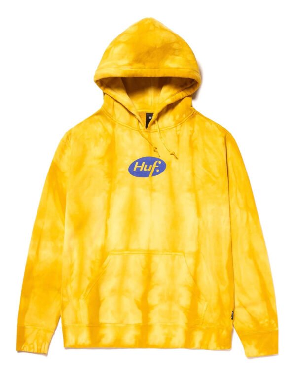 HUF Relax Tie Dye Pullover Hoodie yellow 1
