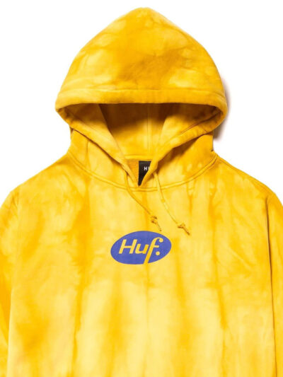 HUF Relax Tie Dye Pullover Hoodie yellow 3