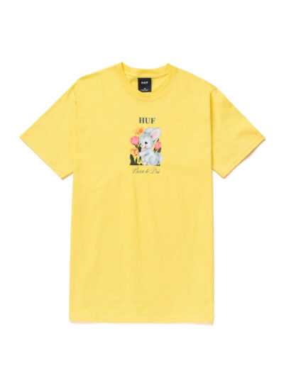 HUF SS Born To Die Tee yellow 1