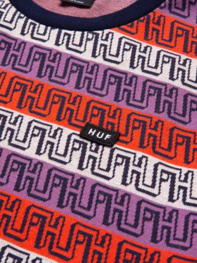 HUF SS Otis Jacquard Knit Tee poppy DETAIL 2