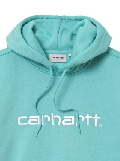 Carhartt WIP Hooded Carhartt Sweat bondi white DETAIL