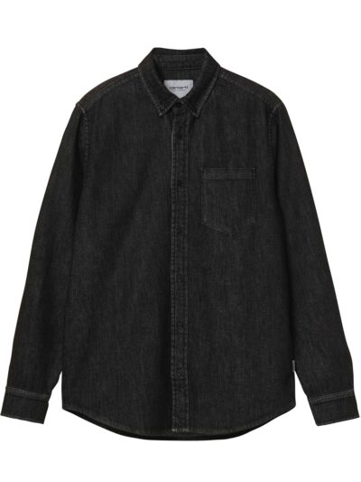LS Civil Shirt black garment wash
