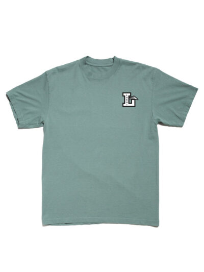 Lakai SS Letterman Tee sea foam 1