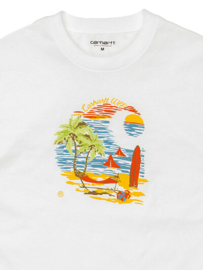 Carhartt WIP SS Beach white DETAIL