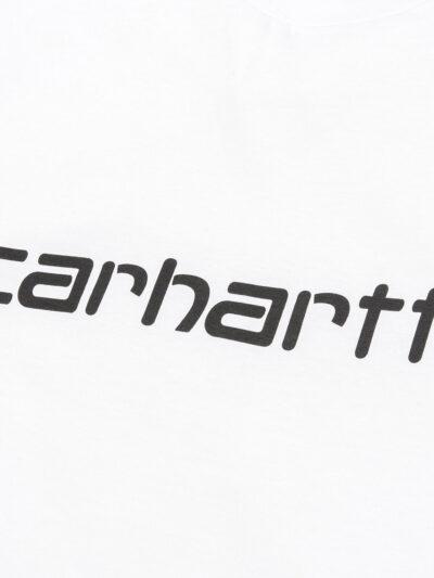 Carhartt WIP Script Tee white black DETAIL 1