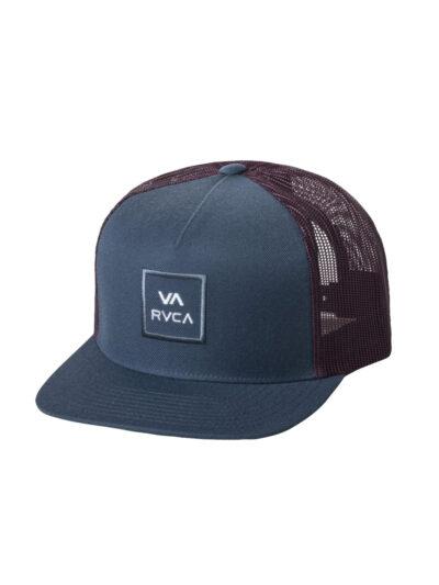 RVCA VA All The Way Trucker Cap blue slate 1