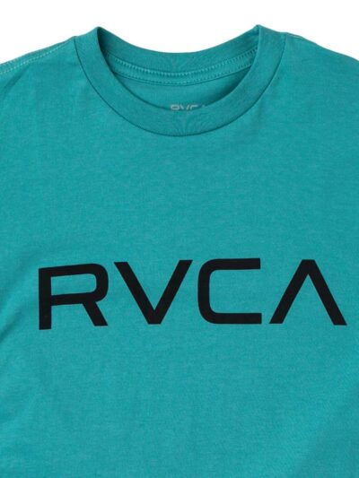 RVCA SS Big RVCA Tee turquoise DETAIL