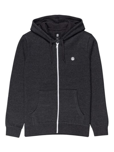 Cornell Classic zip up Hood charcoal heather 1