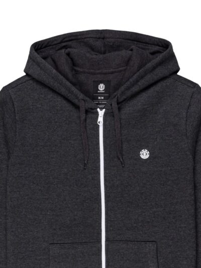 Cornell Classic zip up Hood charcoal heather detail