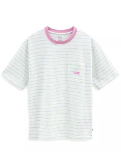 Vans Women Mini Stripe Pocket Tee