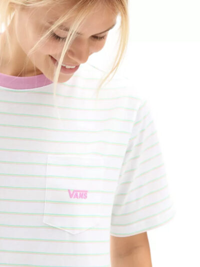 Vans Women Mini Stripe Pocket Tee DETAIL3