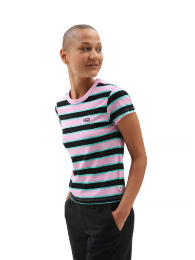 Vans Womens Big Stripe Tee MODEL1