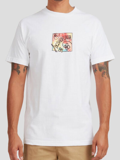 DC Shoes SS Dreamstate Tee white MODEL1
