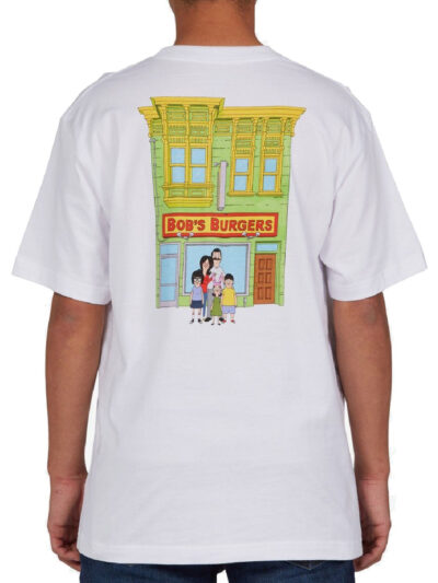 DC Shoes x Bobs Burgers tee 1 white MODEL2