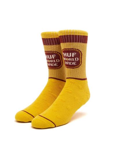 HUF Brown Bag Sock yellow