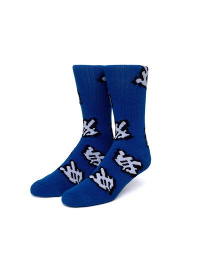 HUF Fuck It Cursor Sock blue