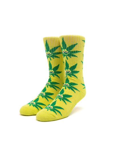 HUF Green Buddy Strains Sock YELLOW 1