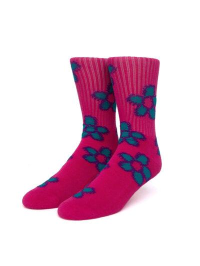HUF Pushing Daisies TT Sock pink 1