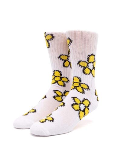 HUF Pushing Daisies TT Sock WHITE 1