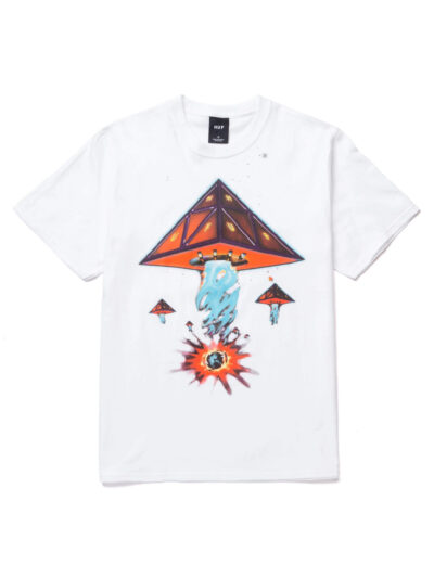 HUF SS Doomsday Tee white1