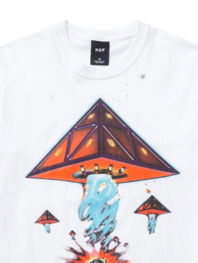 HUF SS Doomsday Tee white2