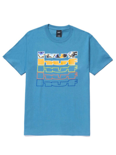 HUF SS Fractal Tee colonial blue 1